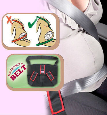 MATERNITY PREGNANCY SEAT BELT ADVANCED SUPPORT BAND CAR BABY SAFETY Blue Red