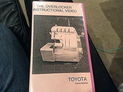 Toyota The Overlocker Instructional Video Sewing Machine Trouble Shooting