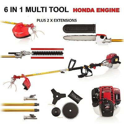 NEW  8 in 1 POLE SAW POWERED BY HONDA GX35 BRUSHCUTTER CHAINSAW BRUSH CUTTER