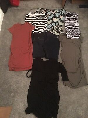 Maternity Clothes Sizes 10 Jeans / leggings/ dresses/ tops 8 Items