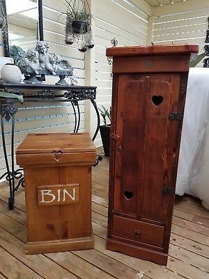 Timber video holder and Timber Kitchen Bin