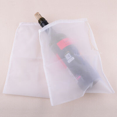 2Pcs cylinder reusable nut milk tea juice wine fine mesh strain filter bag Nylon