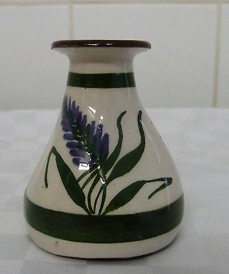 Devon / Torquay Pottery Motto Ware Vase Isle of Wight Lavender
