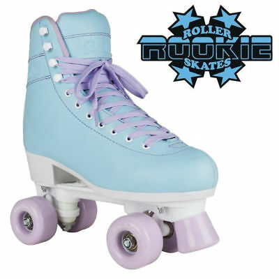 "Rookie ""Bubblegum"" V2 Retro Ladies Roller Skates Kids Adults Pastel Blue Quad"