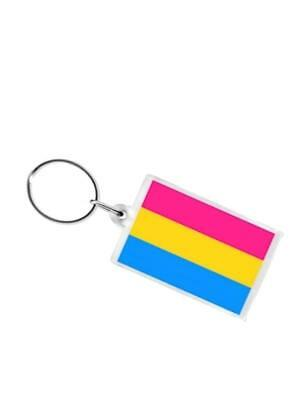 Pansexual Flag Key Ring New Top Rainbow Pride Gay-Pride Free Delivery!