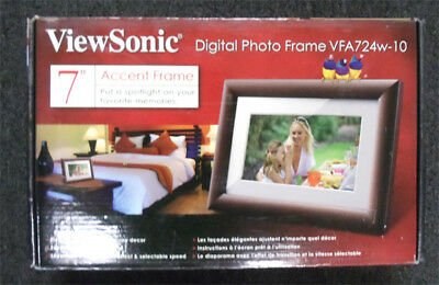 """ViewSonic  7"""" Digital  Picture Frame VFA724W-10 accent frame  free shippng"""