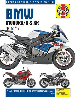 BMW S1000 S1000RR S1000R & S1000XR 2010 to 2017 Haynes Repair Manual 6400