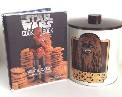 Star Wars Wookie Cookie Jar Biscuit Barrel And Star Wars Cook Book Set