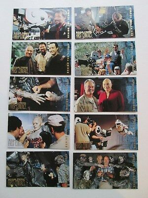 Star Trek First Contact BEHIND THE SCENES trading card Set