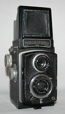 Rolleicord 1a Model 3 - c1940 TLR Camera with Triotar 75mm f/4.5 Lens - Working