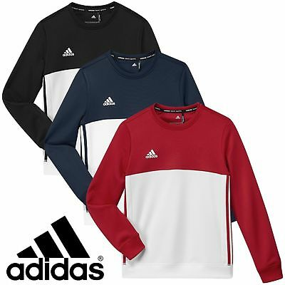 New Adidas T16 Childrens Kids Junior Sports Training Sweatshirt Jumper Crew Top
