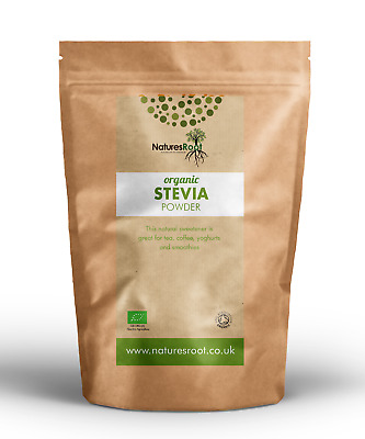 Organic Green Leaf Stevia Powder - Sugar Substitute Replacement | Raw Food Diet