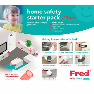 Fred Home Toddler Child Safety Home Safety Starter Pack Locks Latches Cushions