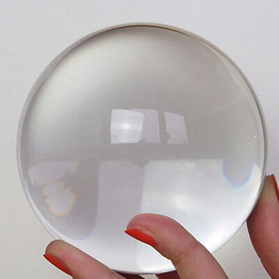 30-50mm Clear Glass Crystal Ball Healing Sphere Photography Props Christmas Gift