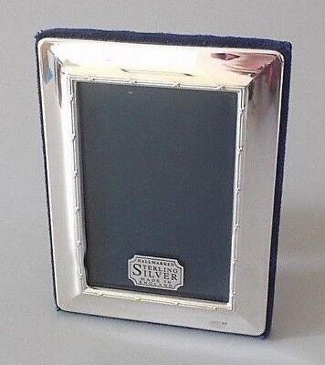 Contemporary solid silver 4.6'' x 3.5'' photo frame, Carrs, Sheffield 1995