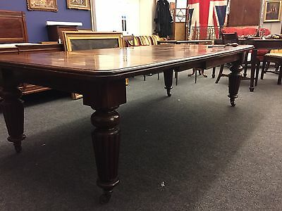 Victorian Mahogany Wind-Out Extending Dining Table