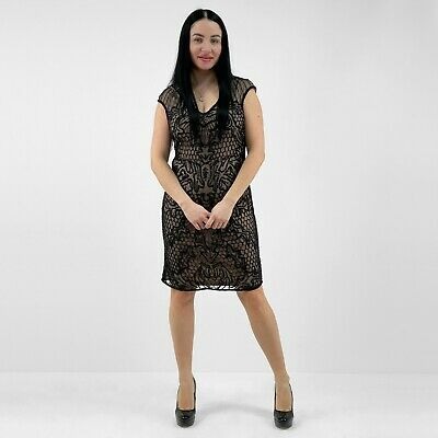 NEW EX MISS SELFRIDGE EMBELLISHED BEADED MESH BODYCON PARTY DRESS RRP £99