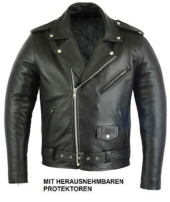 motorradjacke biker jacke aus leder von highway f r. Black Bedroom Furniture Sets. Home Design Ideas