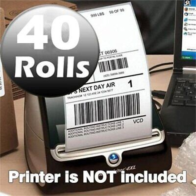 40 Rolls 4x6 Thermal Labels 220/Roll Compatible Dymo 4XL LabelWriter 1744907