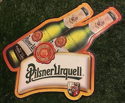 """RARE Pilsner Urquell Metal Beer Tin Sign 20"""" tall X 24"""" wide - Free Shipping"""