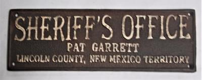 Iron Sign > Sheriff's Office Pat Garrett < Lincoln County < New Mexico Territory