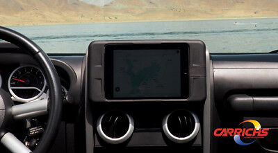 TDK611 2007-2010 Jeep Wrangler Tablet iPad Mini 4 Dash Kit Mount Carrichs