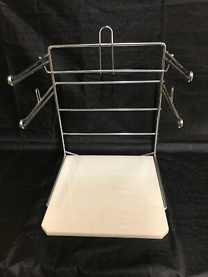 Steel & Plastic Grocery Store Shopping Bag Holder Rack T Shirt Stand