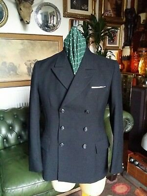"""Vintage 40s 50s Military Navel Officers Double Breasted Blazer Jacket.Medium-42"""""""