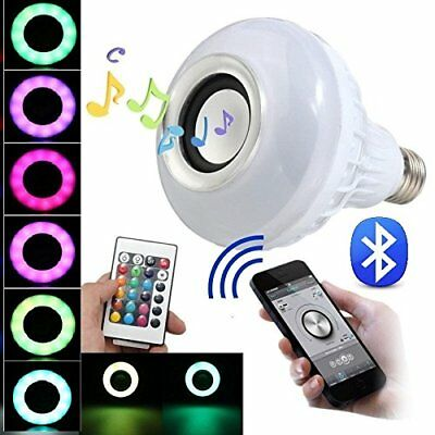 BFF Products Bluetooth Speaker Light Bulb Smart LED RGB Color Changing + Remote