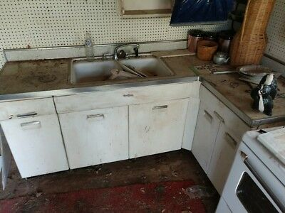 Beauty Queen Vintage 1950's Retro Metal Kitchen Cabinets and Base Units