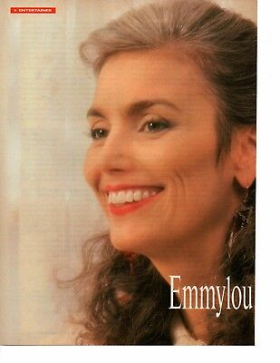 Emmylou Harris 5 Page 1992 Magazine Article Clipping 5 Pictures Country Music