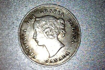 1893 Canada Silver 5 Cents Xf