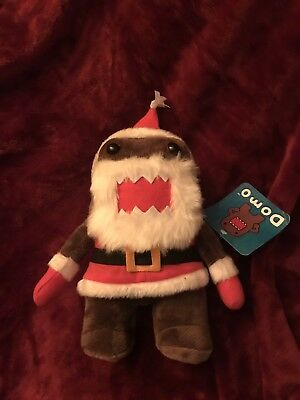 "DOMO Santa. PLUSH STUFFED ANIMAL toy doll Limited edition Anime 11"" with tags"