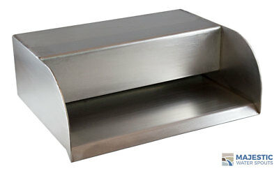 "Picard 12"" Cascading Water Fountain Spillway Step Scupper - Stainless Steel"