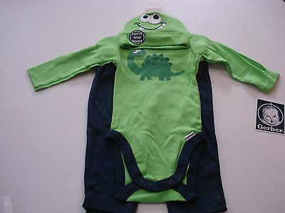 Gerber Baby Boys 3 Piece Outfit NEW Adorable Dinosaurs Various Sizes