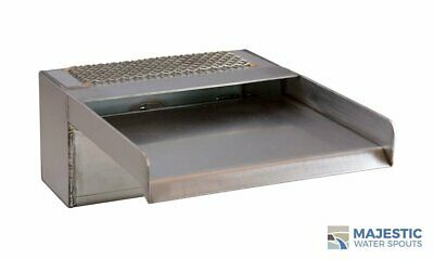 "Zanardi 8"" Open Top Waterfall Spillway - Stainless Steel"