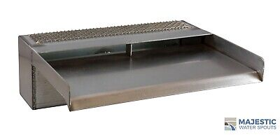 "Zanardi 12"" Open Top Waterfall Spillway - Stainless Steel"