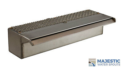"Sutton 12"" Smooth Water Fountain Waterfall Spillway Scupper - Stainless Steel"