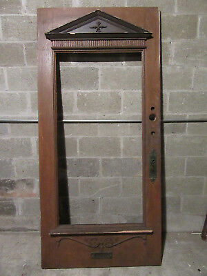 ~ Antique Carved Oak Victorian Door ~ 39 X 83 ~ Architectural Salvage ~