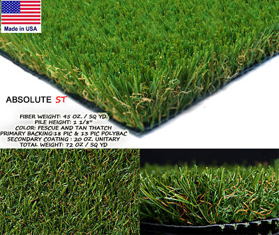 Absolute ST Synthetic Landscape Fake Grass Artificial Residential Turf Lawn