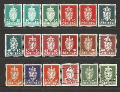 Norway ~ 1955+ Official Service Stamps (Part Set)