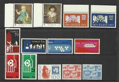 NORWAY ~ SMALL 1970s COLLECTION (MINT MNH)
