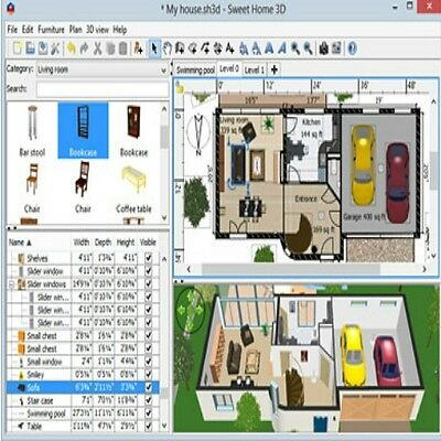 Sweet Home 3D Interior House Design CAD Software