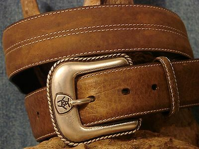 New SZ .34  Ariat Tan Belt FIRST QUALITY  combined shipping T416
