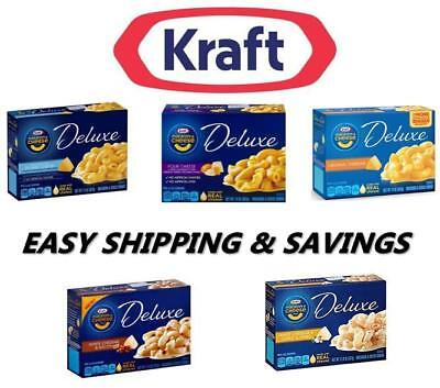 Kraft Macaroni and Cheese Deluxe Many Flavors PACK OF 1  MEAL MIX MATCH EASY