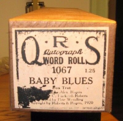 """""""baby Blues"""" Played By Pete Wendling  Recut Piano Roll 1217"""