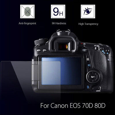 2x Tempered Glass LCD Screen Protector Cover Canon EOS 70D 80D 77D 750D camera