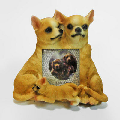 Chihuahua Polyresin Figurine Dog Breed Table Photo Frame 2x3 Picture