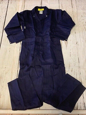 Indura Ultra Soft FR Flame Resistant Coverall Navy Work Snap Front Closure