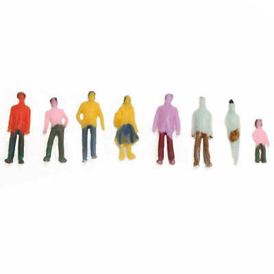 100PCS 1:100 Building Layout Model People HO Scale Painted Figure Passenger